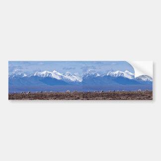 1002 Area Caribou with mountain backdrop Bumper Sticker