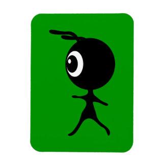 10030 CUTE LITTLE BLACK GREEN ALIEN CARTOON WALKIN VINYL MAGNETS