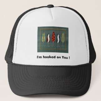 10068957A~Lures-and-Bobbers-IV-Posters,  I'm ho... Trucker Hat