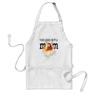 100,000 BTU MOM on fire Adult Apron