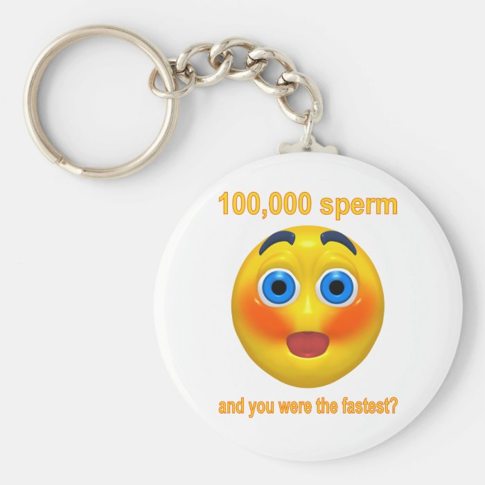 100,000 Sperm and You were the Fastest? Keychain