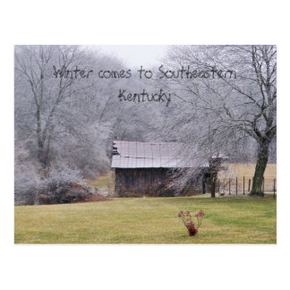 100_0279, Winter comes to Southeastern Kentucky Postcard