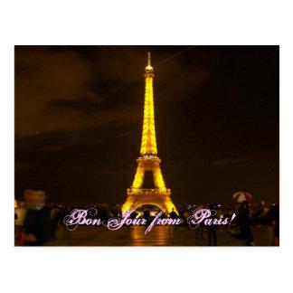 ¡100_0432, BonJour de París! Tarjetas Postales