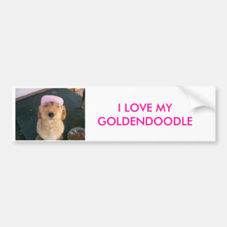 100_0605, I LOVE MY GOLDENDOODLE BUMPER STICKERS