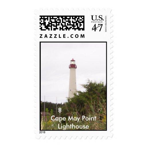 100_0985-1, faro del punto de Cape May Sellos