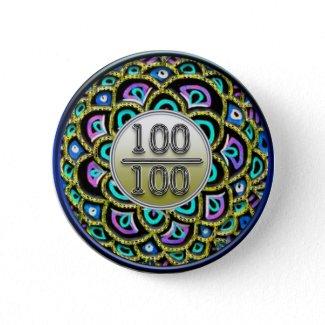 100/100 Praise Button button