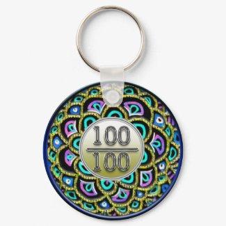 100/100 Praise Keychain keychain