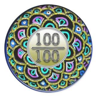 100/100 Praise Sticker sticker