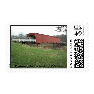 100_1258, puente Madison CO Iowa de Roseman Sellos Postales