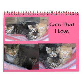 100_1652, 100_1655, 100_1613, Cats That I Love Calendar