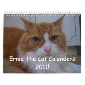 ¡100_1913, Ernie el gato calandra 2011! Calendario De Pared