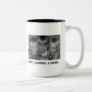 100_199312, SMART, CHARMING, & DARING, GRANDMAS... Two-Tone COFFEE MUG