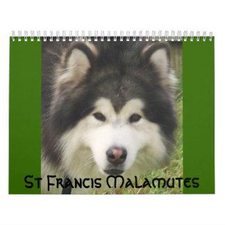 100_2382 Malamutes de St Francis Calendarios De Pared