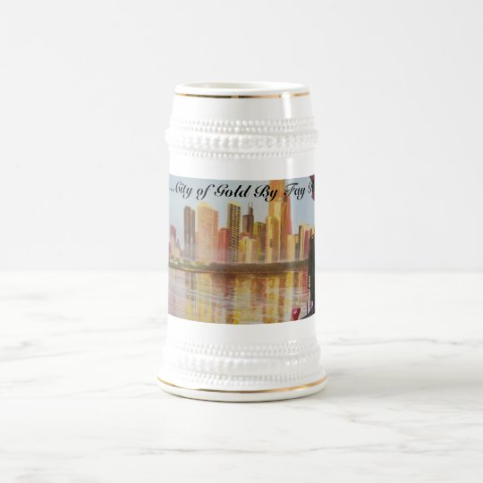 100_2986_0251, Chicago...City of Gold By Fay Ro... Beer Stein