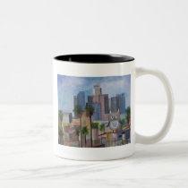 100_4966-1 Owl in LA Two-Tone Coffee Mug
