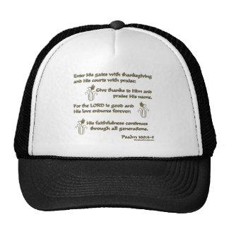 100:4 del salmo - 5 gorras de camionero