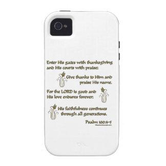 100:4 del salmo - 5 iPhone 4/4S funda