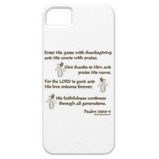 100:4 del salmo - 5 iPhone 5 carcasa