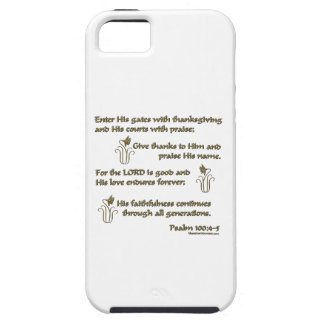 100:4 del salmo - 5 iPhone 5 Case-Mate carcasas
