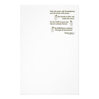 100:4 del salmo - 5 papeleria de diseño