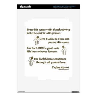 100:4 del salmo - 5 pegatinas skins para iPad 3