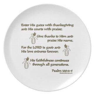 100:4 del salmo - 5 platos