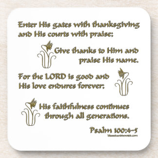 100:4 del salmo - 5 posavaso