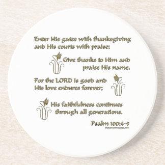 100:4 del salmo - 5 posavaso para bebida