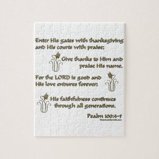100:4 del salmo - 5 puzzles