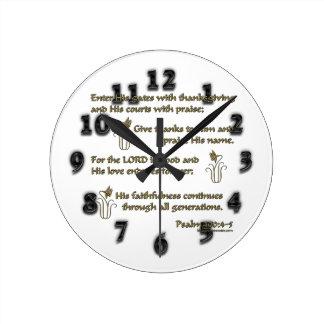 100:4 del salmo - 5 reloj de pared