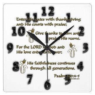 100:4 del salmo - 5 relojes