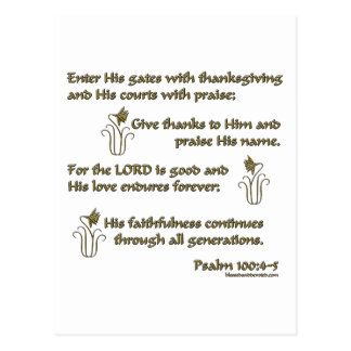 100:4 del salmo - 5 postal