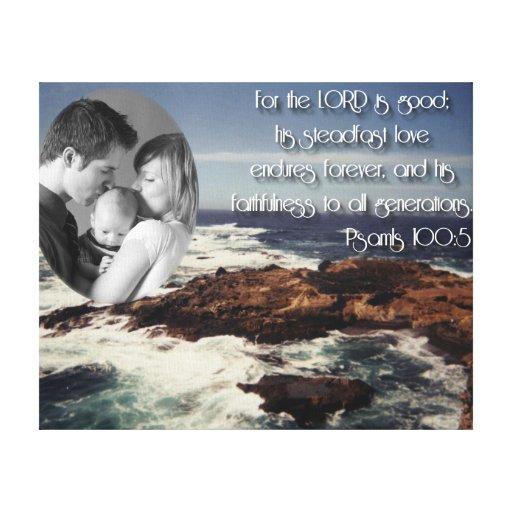100:5 del salmo/foto de familia impresión en lienzo