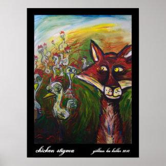 100_7422, chicken stigma, gillian lee keller 2010 poster