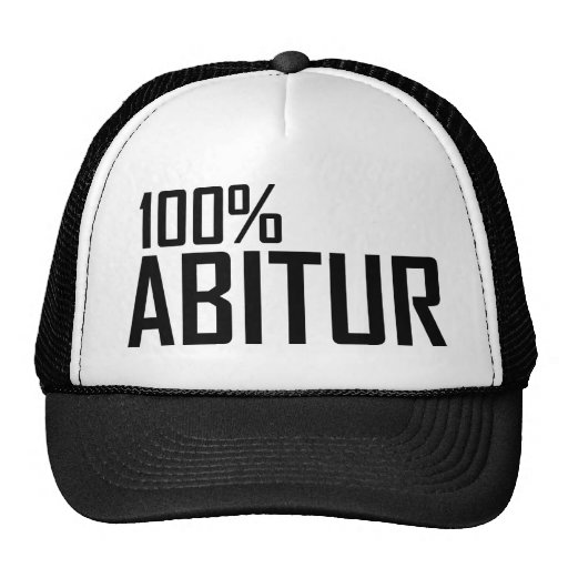 100% Abitur Hats