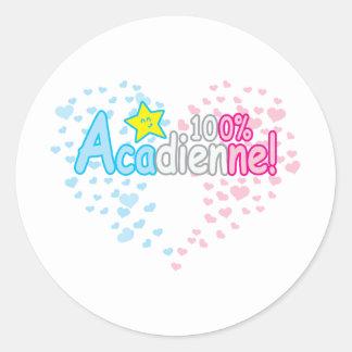 100% Acadienne-baby Girl Sticker