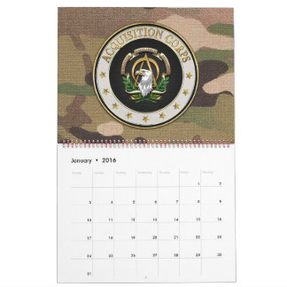 [100] Acquisition Corps (AAC) Branch Insignia [3D] Calendar