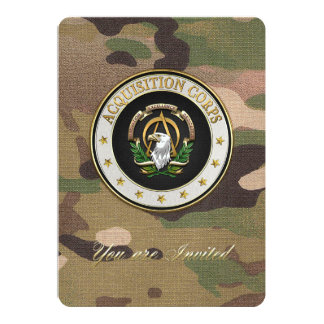 [100] Acquisition Corps (AAC) Branch Insignia [3D] Card