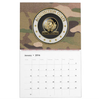 [100] Acquisition Corps (AAC) Regimental Insignia Calendar