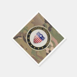 [100] Adjutant General's Corps Branch Insignia [3D Standard Cocktail Napkin
