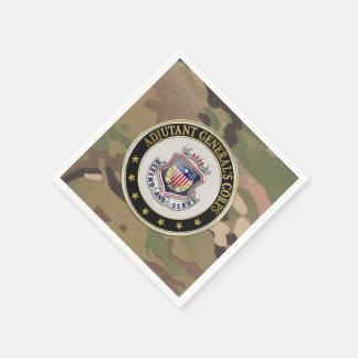 [100] AG Corps Regimental Insignia [3D] Standard Cocktail Napkin