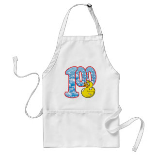 100 Age Duck Adult Apron