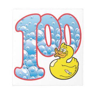 100 Age Duck Memo Notepad