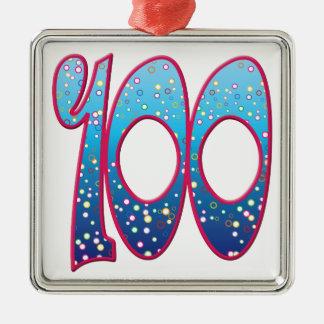 100 Age Rave Silver-Colored Square Decoration