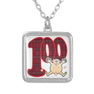 100 Age Star Man Square Pendant Necklace