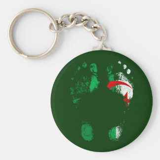 100% Algeria - Algerian to the soles of my feet. Basic Round Button Keychain