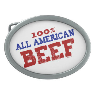100% All Ameican Beef Buckles Oval Belt Buckle