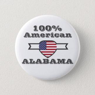 100% American, Alabama Pinback Button