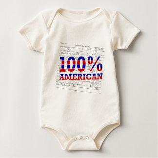 100% american baby bodysuit