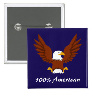 100% American Bald Eagle button
